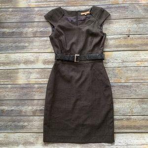 Alex Marie Belted Sheath Dress